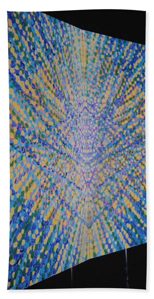 Inspirational Hand Towel featuring the painting Butterfly Dream by Kyung Hee Hogg