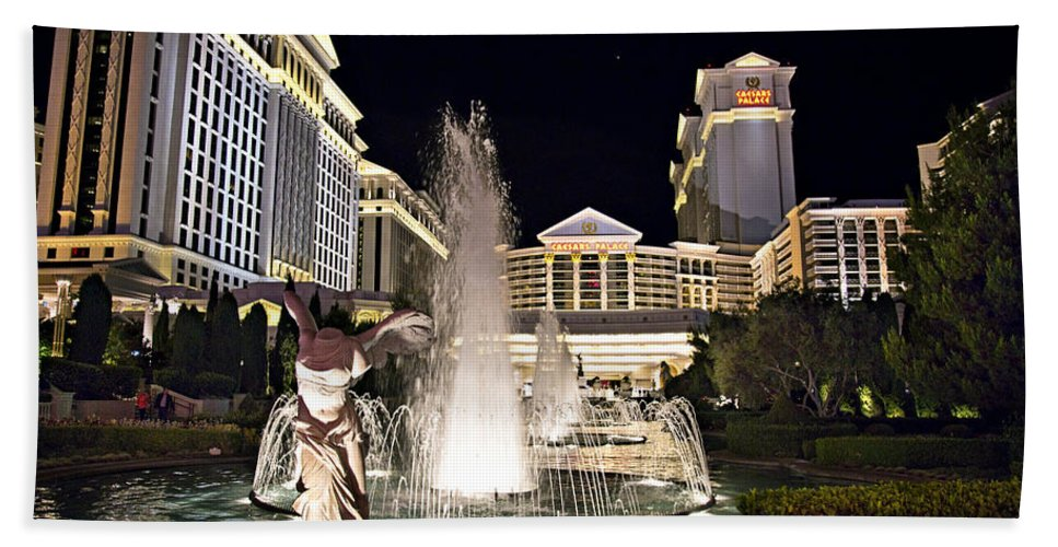 Las Hand Towel featuring the photograph Caesars Palace by Ricky Barnard