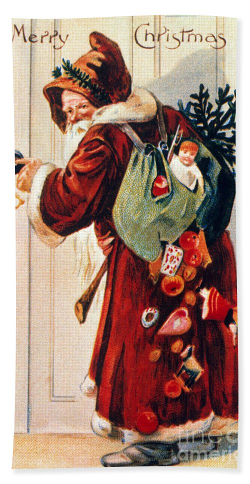 19th Century Hand Towel featuring the photograph Christmas Card by Granger