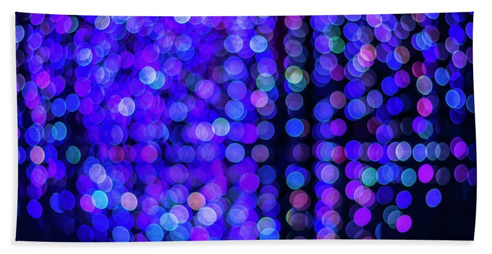 Design Bath Sheet featuring the photograph Christmas Lights by Jijo George