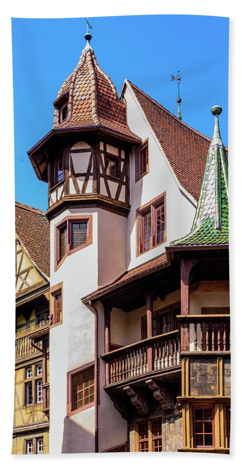 Colmar Bath Sheet featuring the photograph Colmar - France by Jon Berghoff