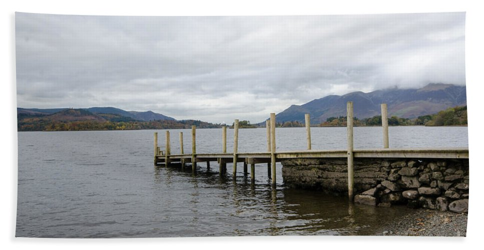 Lake Bath Towel featuring the photograph Derwentwater by Smart Aviation