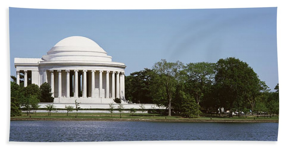 Photography Bath Sheet featuring the photograph Jefferson Memorial, Washington Dc by Panoramic Images