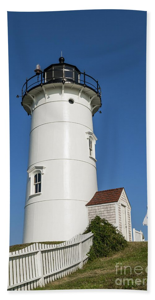 Cape Cod Bath Sheet featuring the photograph Nobska Point Lighthouse by John Greim