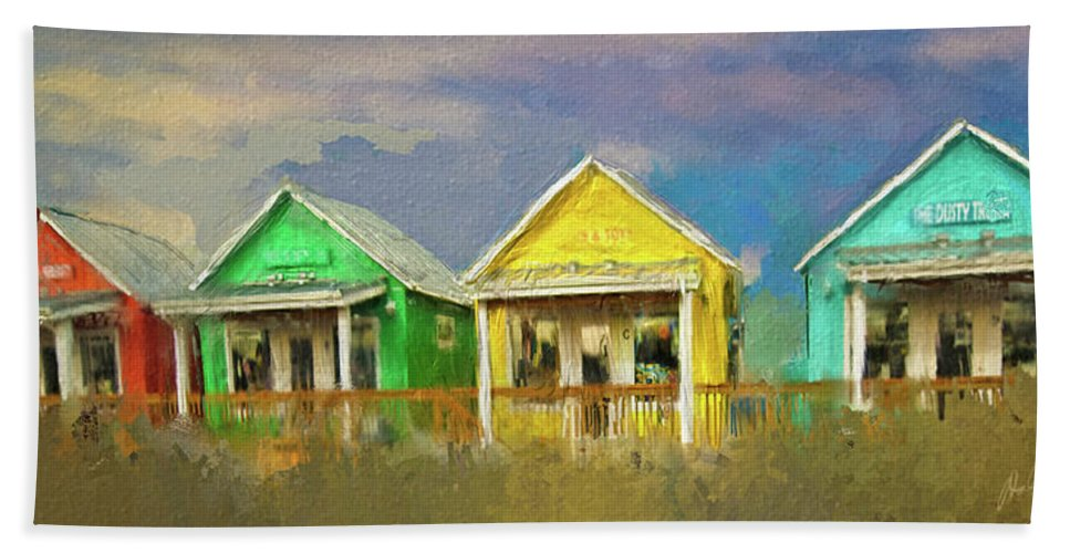 Cabins Hand Towel featuring the digital art 4 Of A Kind by Dale Stillman