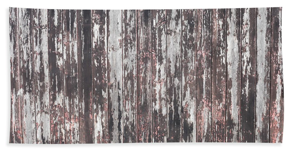 Abstract Bath Sheet featuring the photograph Old Wood by Tom Gowanlock
