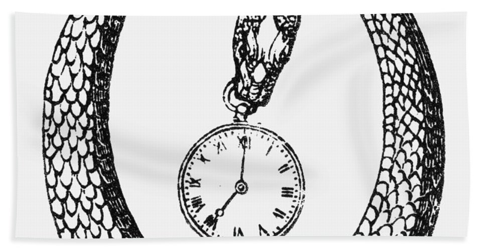 19th Century Bath Sheet featuring the photograph Pocket Watch, 19th Century by Granger