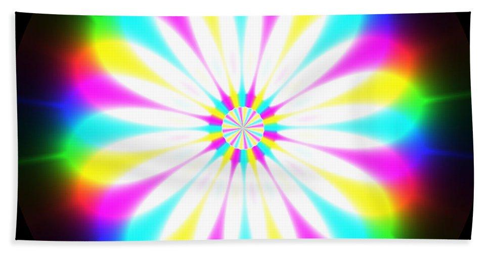 Rainbow Hand Towel featuring the digital art Rainbow Waves by Miroslav Nemecek