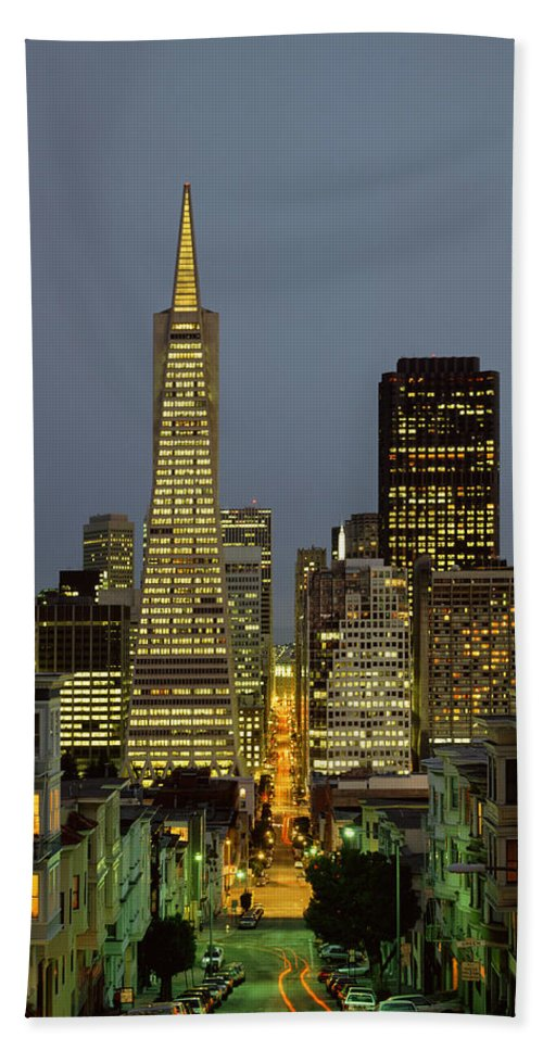 Photography Bath Sheet featuring the photograph San Francisco Ca by Panoramic Images