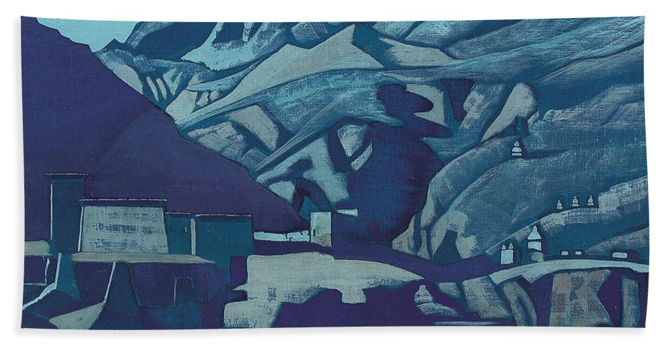 Country Hand Towel featuring the painting Sanctuaries And Citadels by Nicholas Roerich