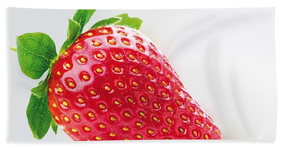Strawberries Hand Towel featuring the photograph Strawberry by FL collection