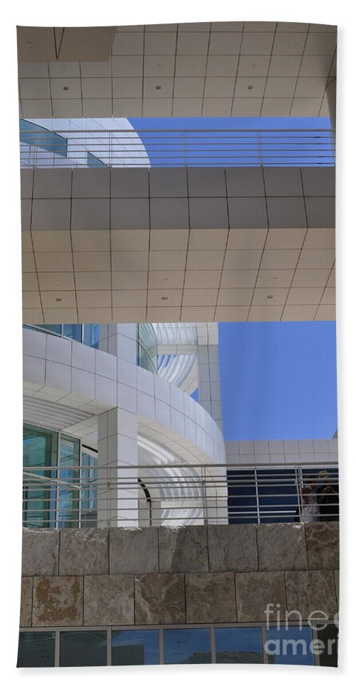 Clay Bath Towel featuring the photograph The Getty by Clayton Bruster