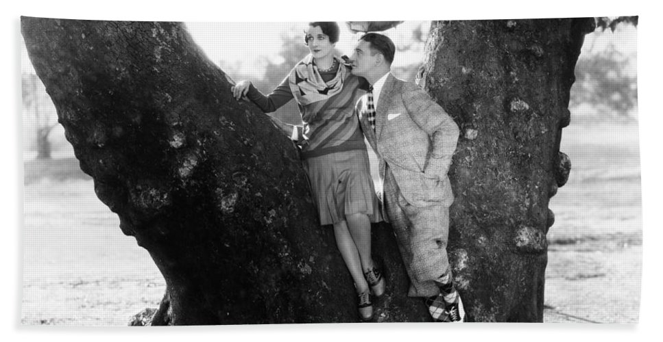 -couples- Bath Towel featuring the photograph Silent Film Still: Couples by Granger