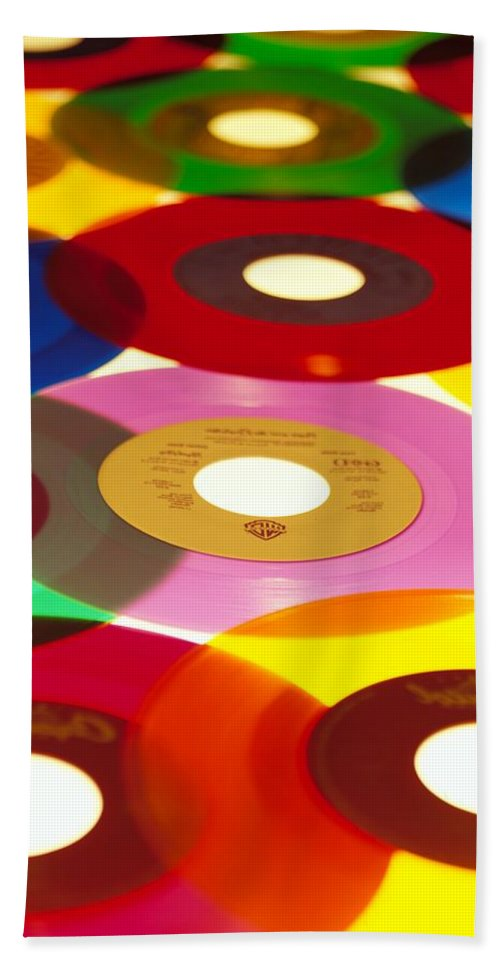 45 Hand Towel featuring the photograph 45 Rpm by Robert Ponzoni
