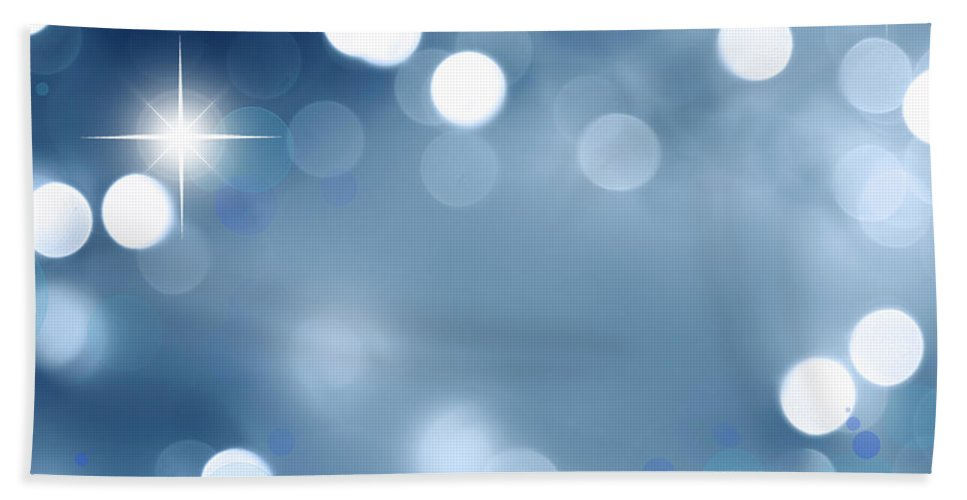 Blue Bath Sheet featuring the digital art Abstract Background by Les Cunliffe