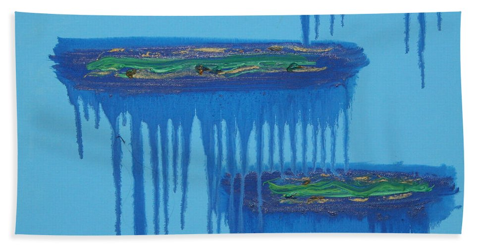 4 Levels Bath Sheet featuring the painting 4levels4fellings4you by Sitara Bruns