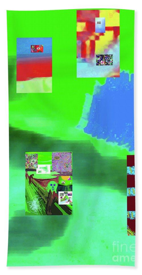 Walter Paul Bebirian Hand Towel featuring the digital art 5-14-2015gabcdefghijklmnop by Walter Paul Bebirian