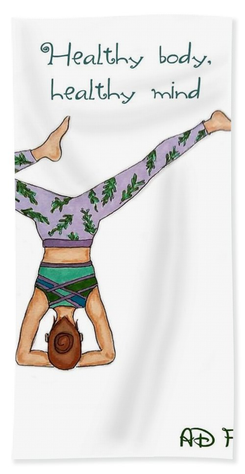Healthy Hand Towel featuring the drawing Ad Fashion by Aleksandra Dobanovacki