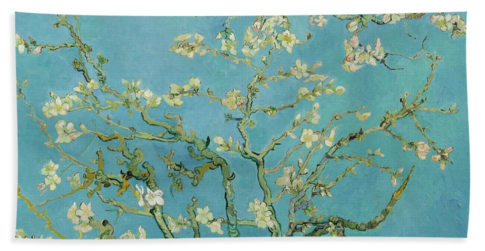 Dutch Hand Towel featuring the painting Almond Blossom by Vincent van Gogh