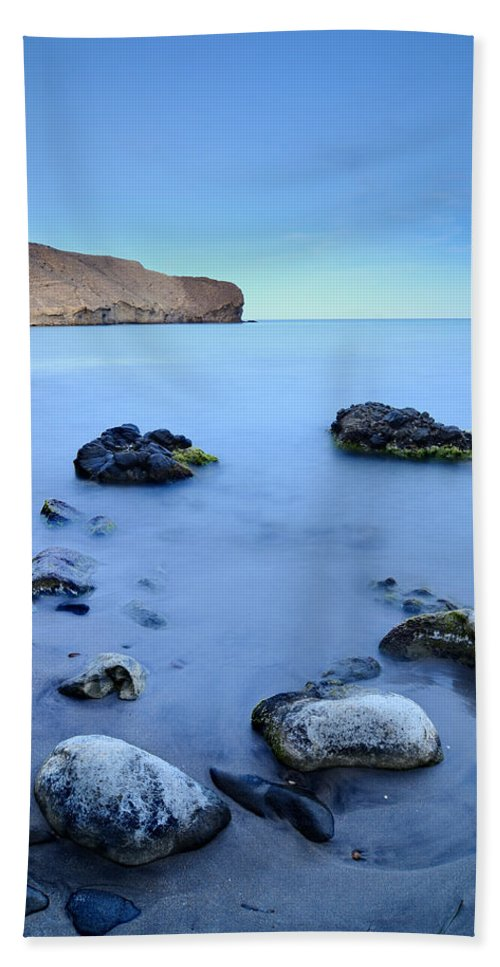 Seascape Hand Towel featuring the photograph Blue Sea by Guido Montanes Castillo