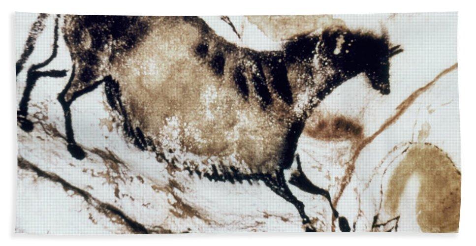 18th Millenium B. C Bath Sheet featuring the photograph Cave Art: Lascaux by Granger