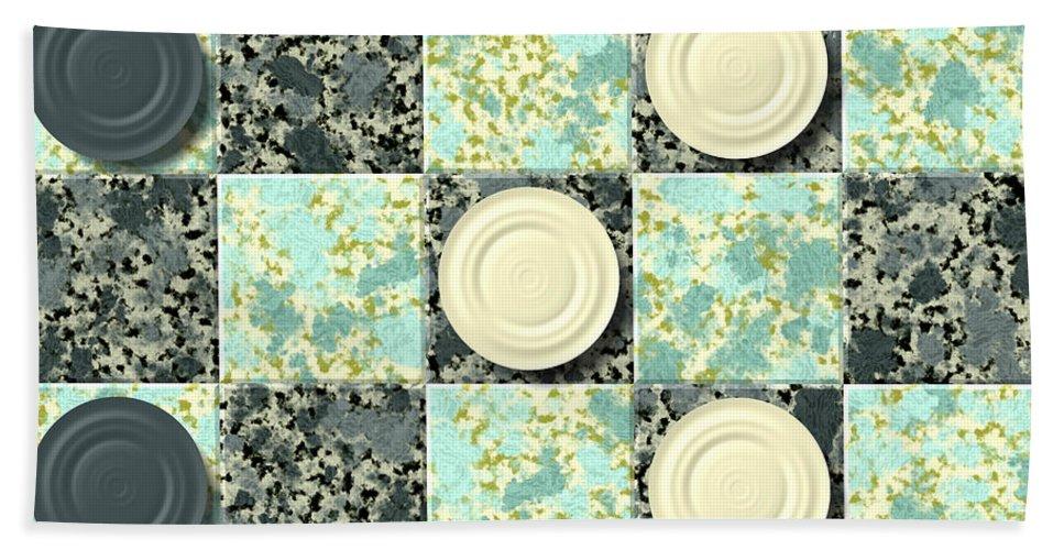 Checkerboard Hand Towel featuring the digital art Checkerboard Generated Seamless Texture by Miroslav Nemecek