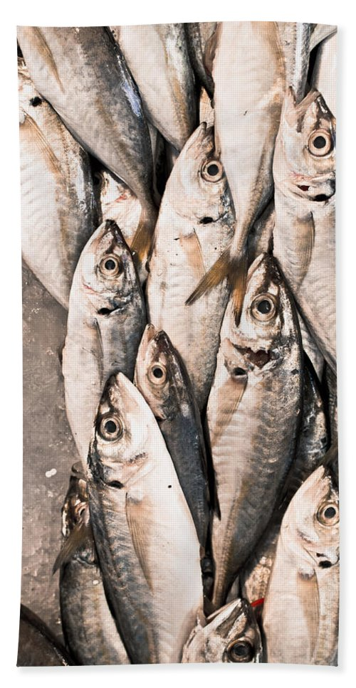 Background Bath Sheet featuring the photograph Fresh Fish by Tom Gowanlock