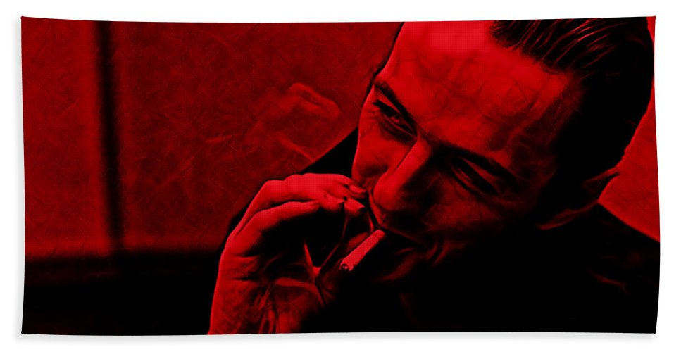 Joe Strummer Hand Towel featuring the mixed media Joe Strummer Collection by Marvin Blaine