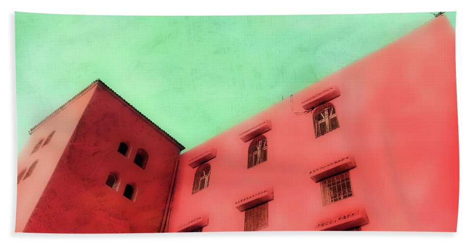 Africa Hand Towel featuring the photograph Moroccan Building by Tom Gowanlock