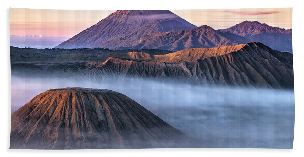 Bromo Tengger Semeru National Park Bath Sheet featuring the photograph Mount Bromo - Java by Joana Kruse