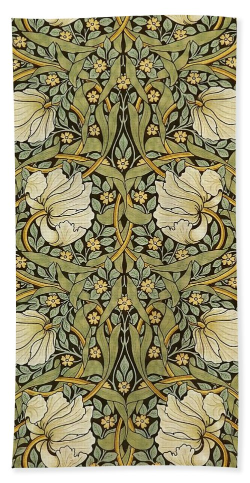 William Morris Bath Sheet featuring the painting Pimpernel by William Morris