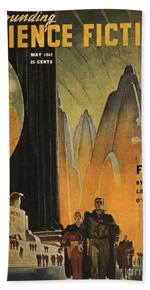 1947 Hand Towel featuring the photograph Science Fiction Magazine by Granger