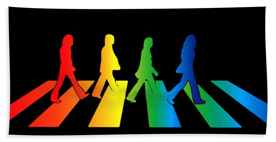 The Beatles Bath Towel featuring the digital art The Beatles by Jofi Trazia