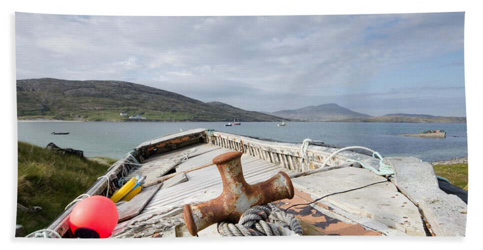 Vatersay Scotland Hand Towel featuring the photograph Vatersay by Smart Aviation