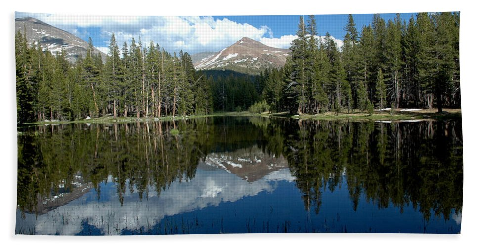 Usa Hand Towel featuring the photograph Yosemite Reflections by LeeAnn McLaneGoetz McLaneGoetzStudioLLCcom