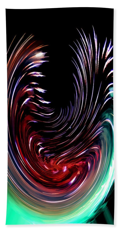 Abstract Black Red Green Blue Abstract Black Red Green Blue Framed Prints Hand Towel featuring the digital art Abstract by Galeria Trompiz