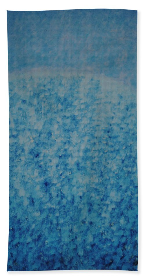 Inspirational Hand Towel featuring the painting Calm Mind by Kyung Hee Hogg
