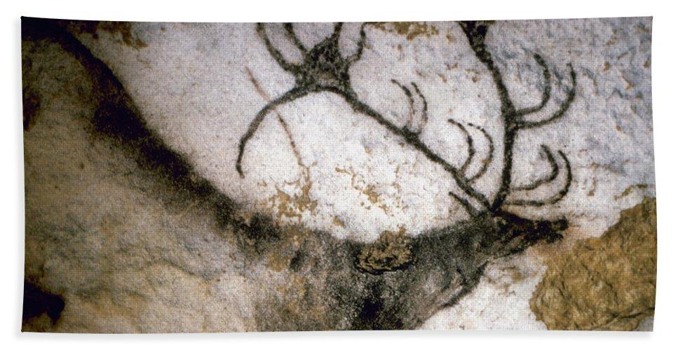 Cave Bath Sheet featuring the photograph Cave Art: Lascaux by Granger