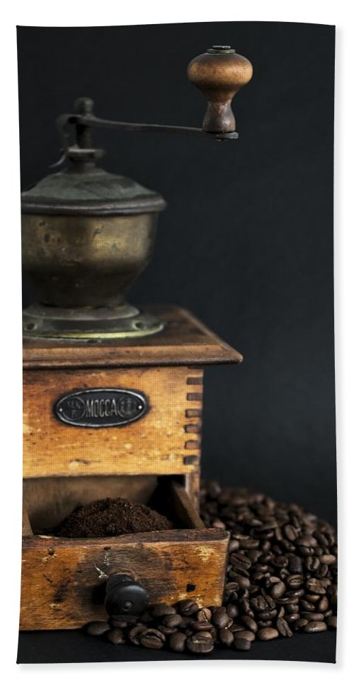 Bean Hand Towel featuring the photograph Coffee by FL collection