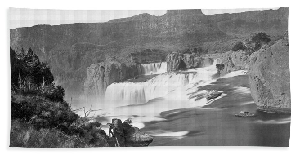 1868 Bath Sheet featuring the photograph Idaho: Shoshone Falls by Granger