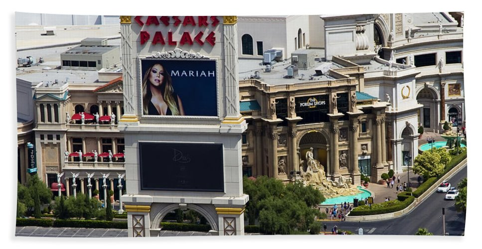 Las Hand Towel featuring the photograph The Forum Shops by Ricky Barnard