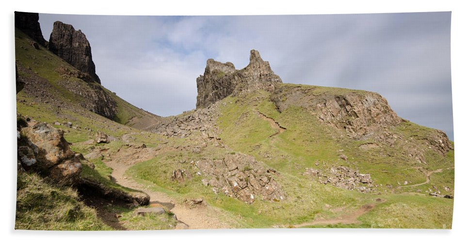 Quiraing Scotland Hand Towel featuring the photograph The Quiraing by Smart Aviation