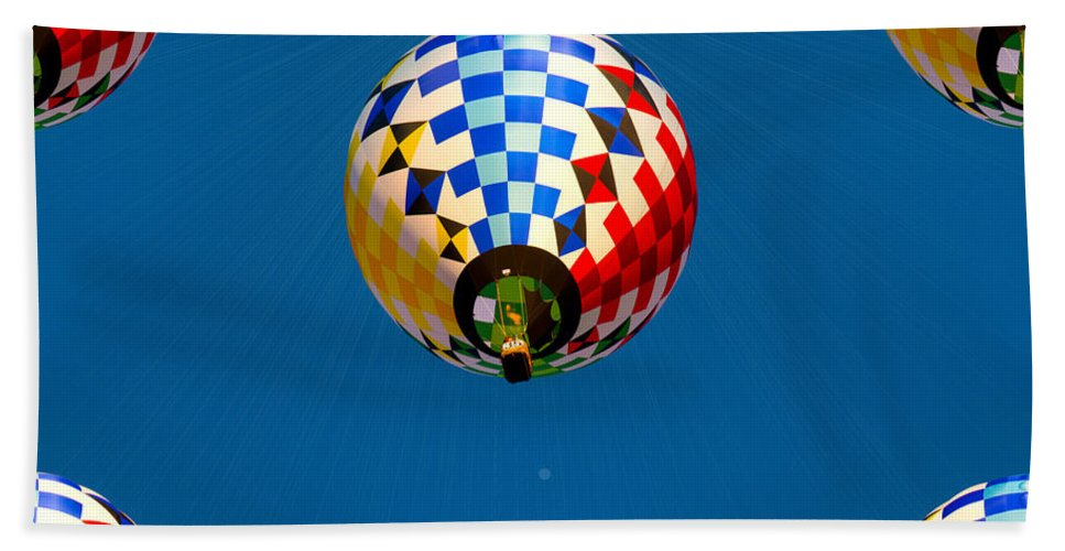 Balloon Hand Towel featuring the photograph Balloon Festival 2015 by Michael Tucker