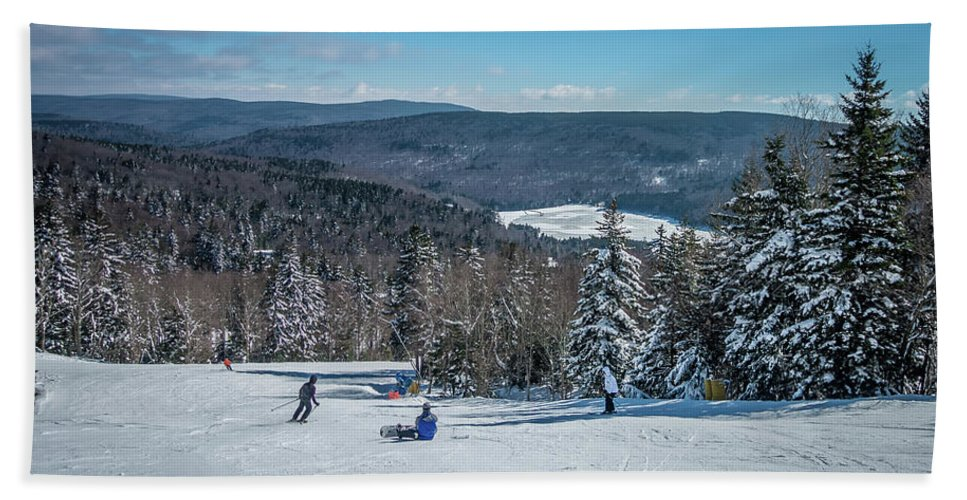 Cass Hand Towel featuring the photograph Beautiful Nature And Scenery Around Snowshoe Ski Resort In Cass by Alex Grichenko