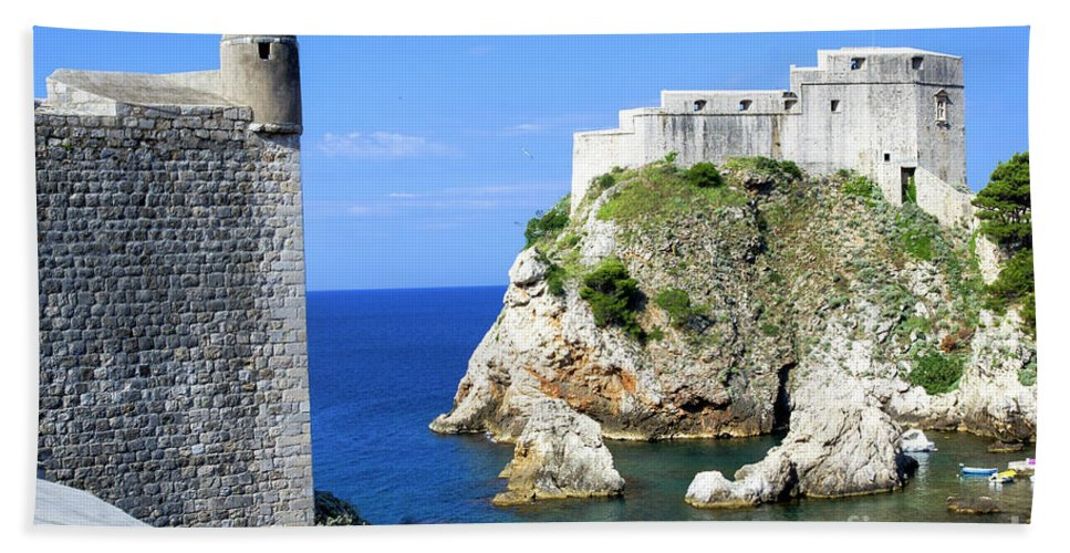 Croatia Hand Towel featuring the photograph Croatia, Dubrovnik by Ruth Hofshi