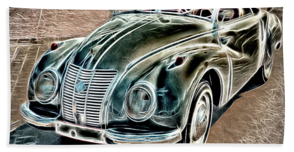 Abstract Bath Sheet featuring the photograph Former East Germany I F A Car by Robert Kinser