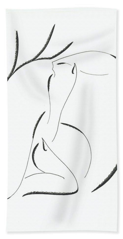 Graphics Hand Towel featuring the drawing Graphics by Ira Mizkevish