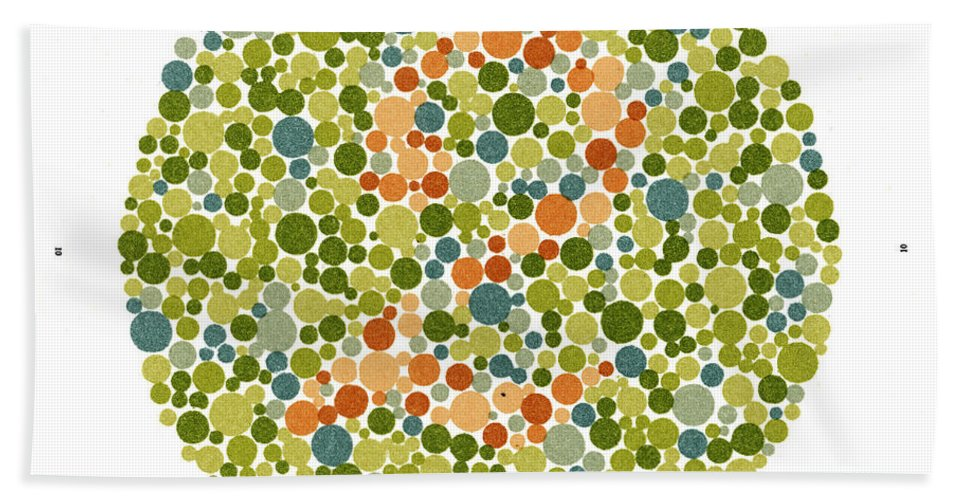 Color Hand Towel featuring the photograph Ishihara Color Blindness Test by Wellcome Images
