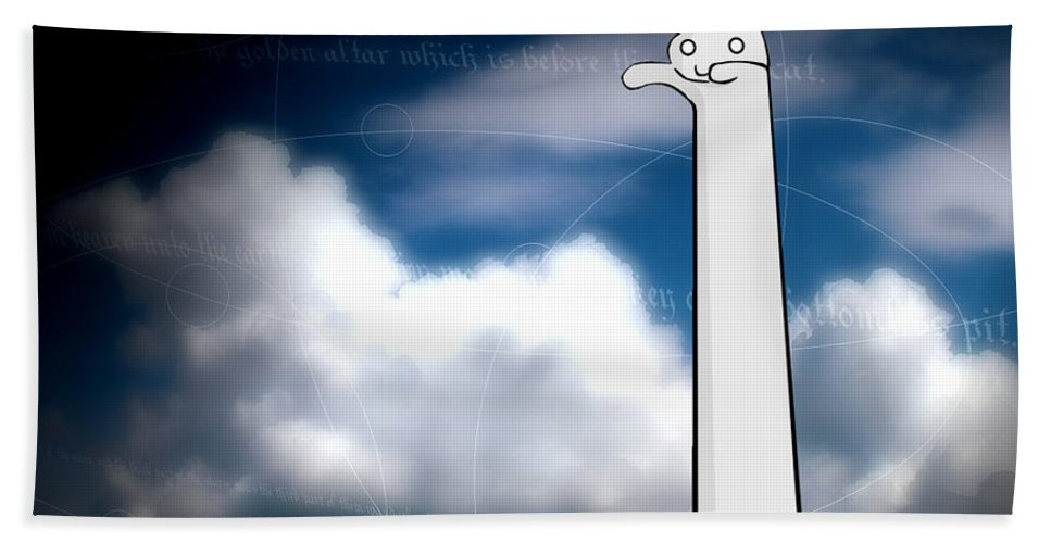 Funny Bath Towel featuring the digital art Funny by Mery Moon