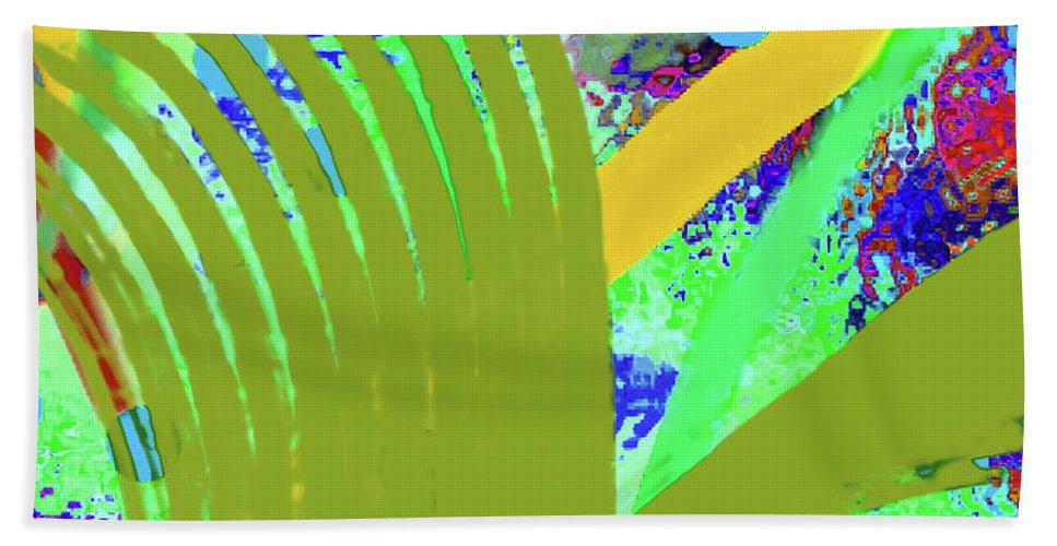 Walter Paul Bebirian Hand Towel featuring the digital art 8-27-2015cabcdefghijklmnopq by Walter Paul Bebirian